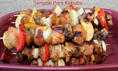 Teriyaki Pork Kabobs | Tasty Kitchen: A Happy Recipe Community!: Tasti Creations, Michelle Tasti, Michele Tasti, Pork Kabobs, Pork Chops Kabobs, Grilled Kabobs Ideas, Teriyaki Pork, Recipes Community, Happy Recipes