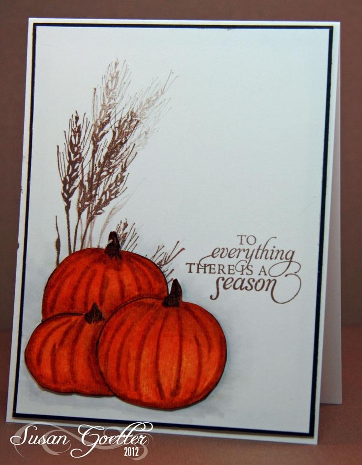 Рисунок осенняя открытка