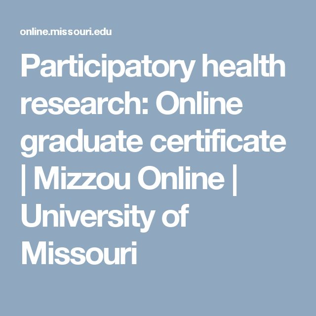 Participatory health research: Online graduate certificate | Mizzou Online | University of Missouri