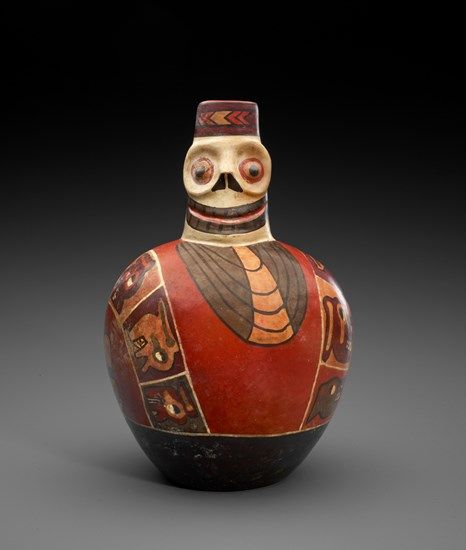 Figural Bottle with Death Mask | The Museum of Fine Arts, Houston