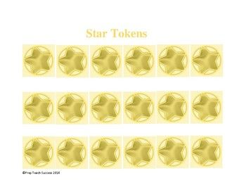 FREE Printable: Star Tokens are intended to be used with the Homework Reward Program that can be found at: http://prepteachsuccess.weebly.com/summer-work-rewards-program.html. However, tokens can be used as a reward system for other student/child accomplishments as well.