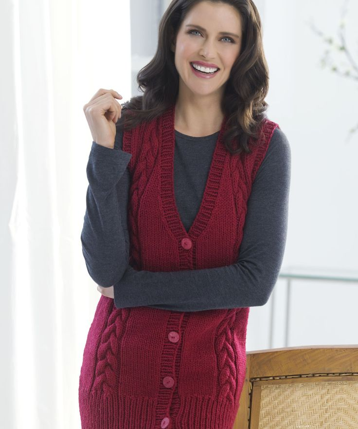 40 best Free Knit Vest Patterns images on Pinterest | Free knitting ...