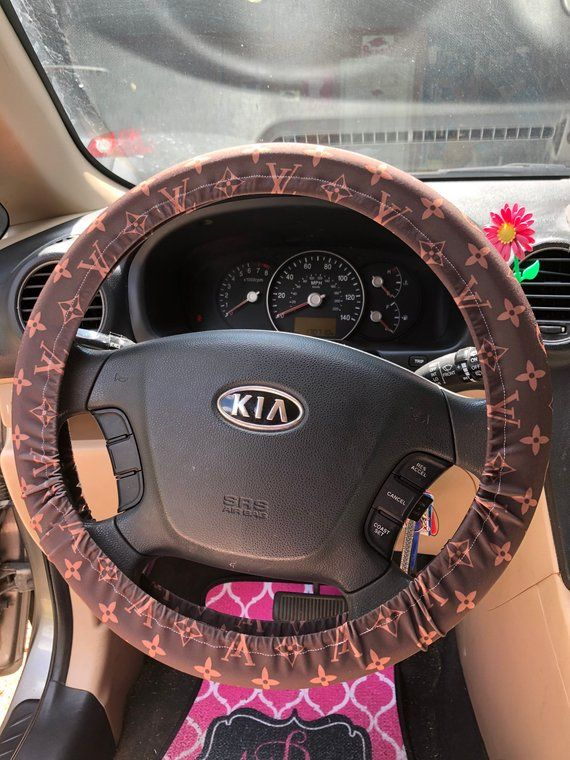 Lv Louis Vuitton Inspired Steering Wheel Cover Wheel Cover Car