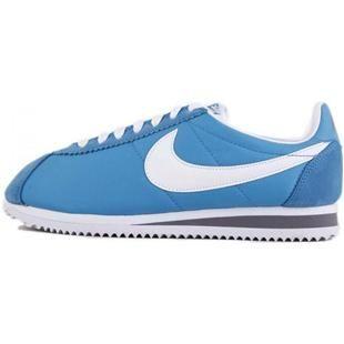 http://www.asneakers4u.com/ Oxford Cloth International Women Nike Cortez Blue Shoes