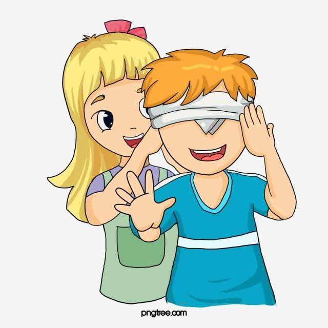 الأطفال يلعبون الغميضة كرتون أعمى شخص أعمى Png وملف Psd للتحميل مجانا Esconde Esconde Molduras Para Criancas Educacao Fisica