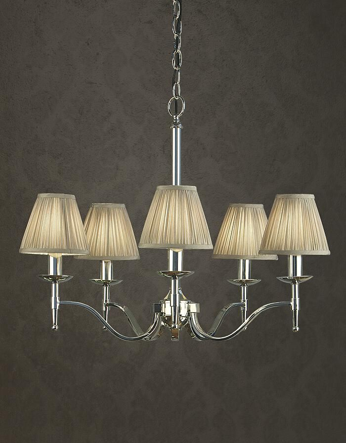 Stanford 5 Light Polished Nickel Chandelier