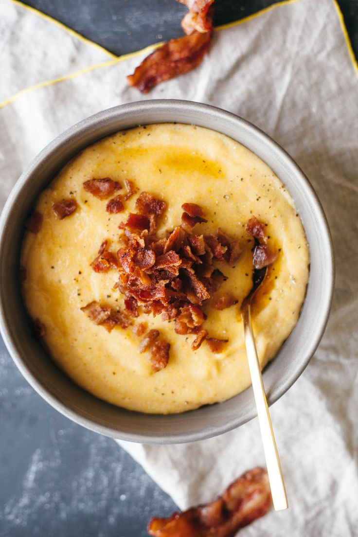 maple bacon polenta   my name is yeh