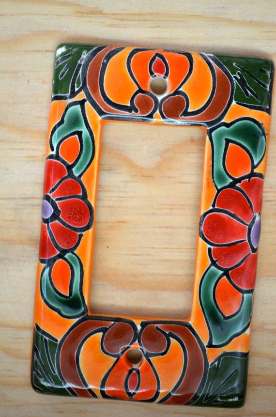 1 Talavera Mexican Pottery 3 X 5 Light Single Rocker Switch Wall Plate Art In 2018 House Pinterest And Ceramics