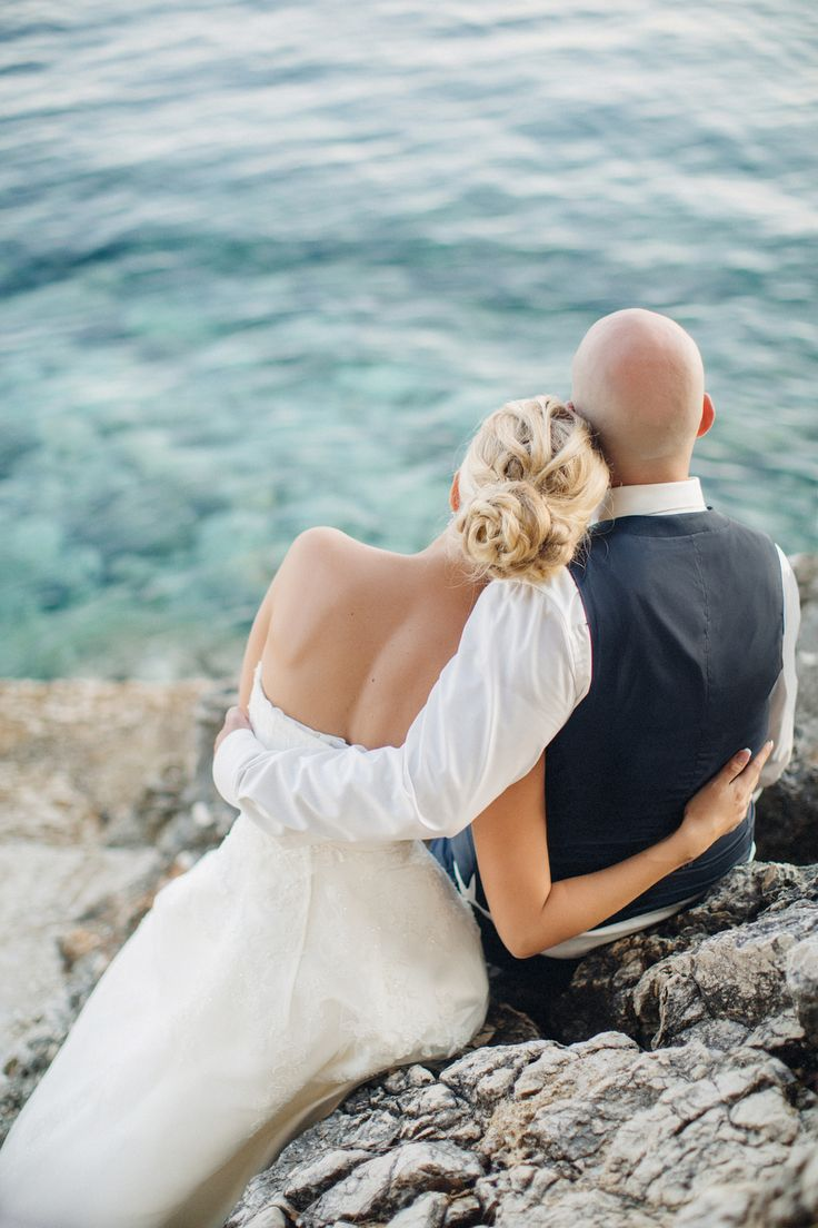 Corfu villa wedding #corfu #wedding #elopement #symbolic #ceremony #greece #island #destination #yellow #bridal #bouquet #greece #destination #sea #villa #bride #groom