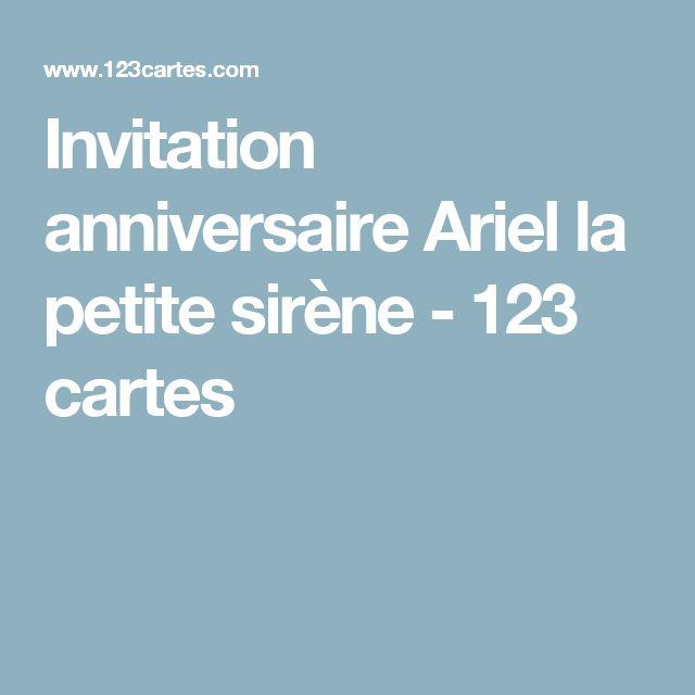 Invitation anniversaire Ariel la petite sirène - 123 cartes