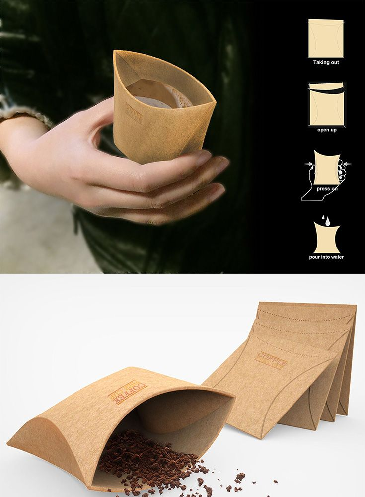 With just a squeeze, this flat design's unique construction unfolds to form a single cup, instant coffee powder is already included inside the cup, so all you have to do is fill with hot water... READ MORE at Yanko Design !
