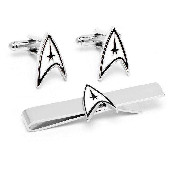 Star Trek Cufflinks Tie Bar Gift Set