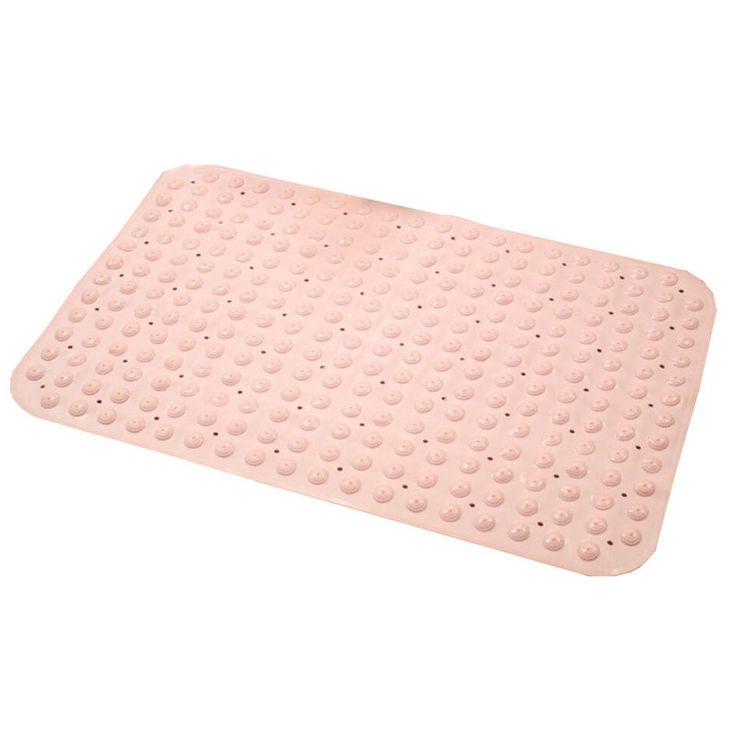 "Anti-Slip Anti-Bacterial Baby Safety Bath Mat Bathtub Mat, 14"" W X 28"" L,Pink"