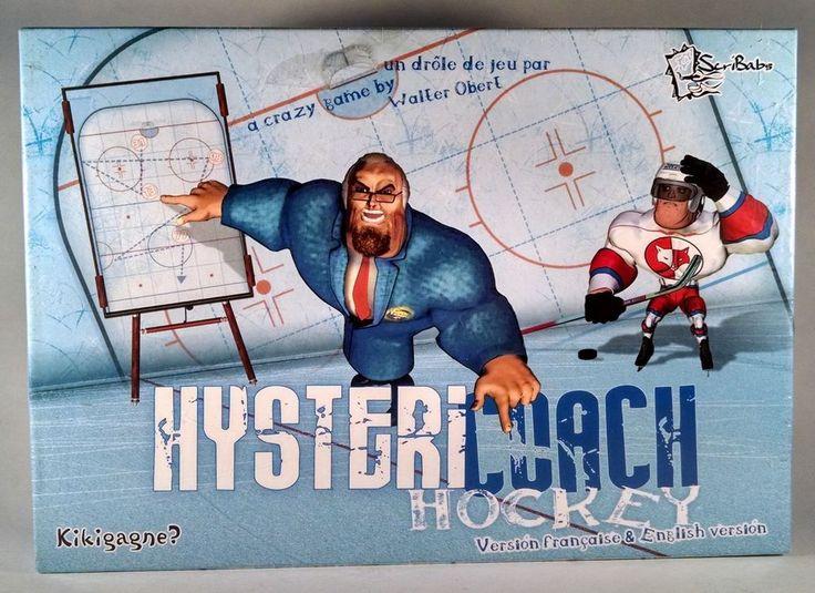 Hystericoach Hockey Board Game Scribabs Kikigagne? Hysteri Coach New  #Skribab