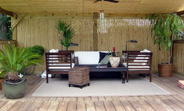 LUV LUV This Deckthe Bamboo For Privacy Ahh Peaceful - Patio Seating Sets