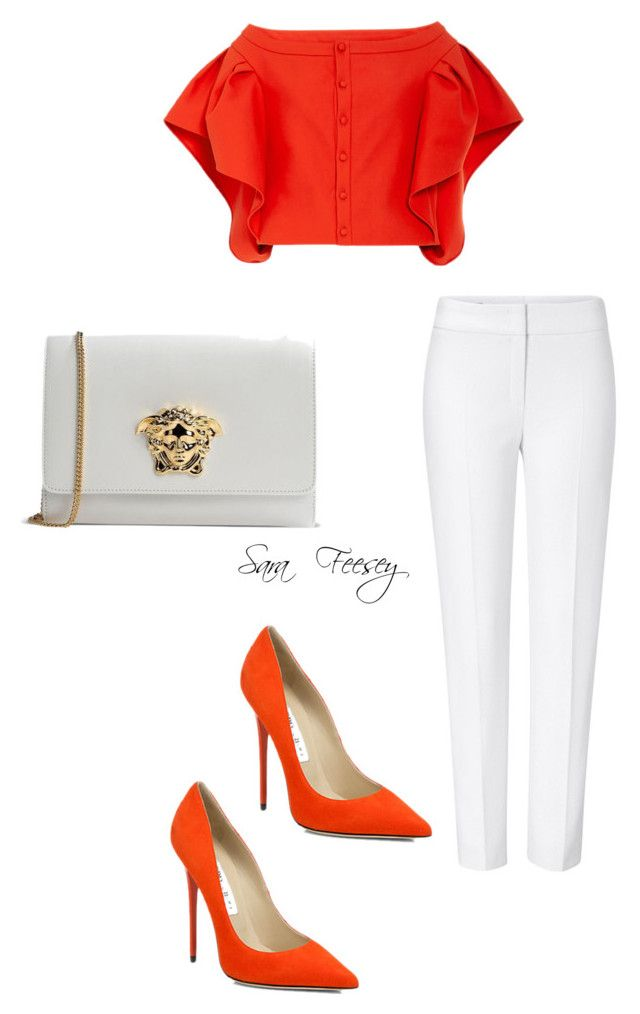 """Untitled #103"" by sara-elizabeth-feesey on Polyvore featuring ESCADA, Rosie Assoulin, Jimmy Choo and Versace"
