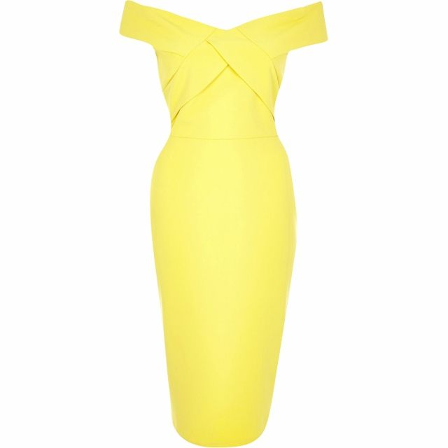 Clearance Jane Norman Black Lace Bodycon Bardot Dress £27.98 : www