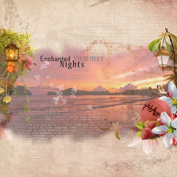 This layout is made with Enchanted Summer Nights collaboration from Digidesignresort Designers.  Photo credit - Pixabay.  #ddr-enchantedsummernightspartab, #digidesignresort