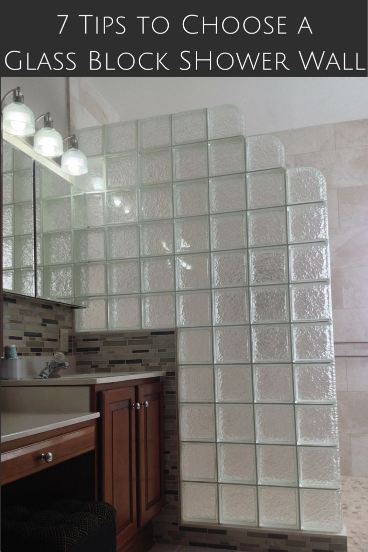 Glass blocks in bathroom - 7 Tips To Choose The Right Glass Block Shower Wall Thickness