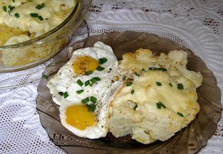 W Mojej Kuchni Lubię.. : zapiekanka kalafiorowo ziemniaczana z jajkiem sadz...