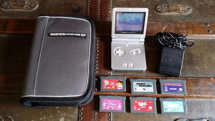 Nintendo Game Boy Gameboy Advance SP Handheld Game System w/7 Games Charger Case | Video Games & Consoles, Video Game Accessories, Accessory Bundles | eBay!