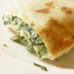 Foto recept: Spinazie en kaas pannenkoeken