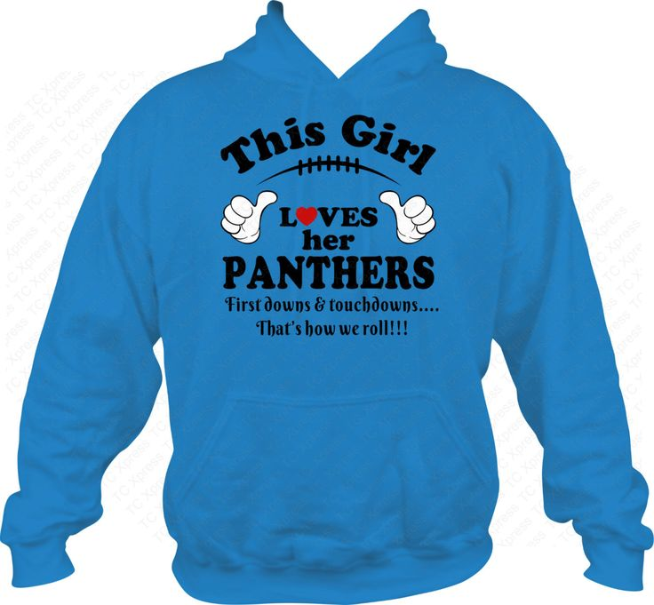 This Girl Loves Her Panthers Hoodie, Carolina Panthers, Football, T-Shirt, Sweatshirt, Go Panthers, Panthers Football, Carolina Football by TCXpress on Etsy