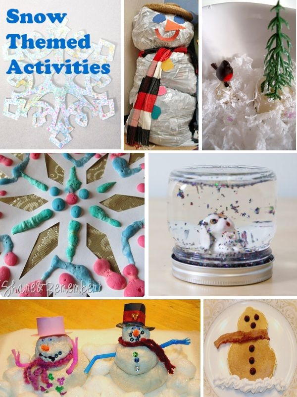 Activities & crafts for kids to do in the winter (with a snow theme)