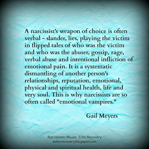 quotes about narcissistic people | Narcissistic Mother's Smear Campaign quote by Gail Meyers