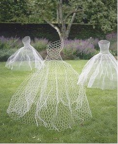 jurken in de tuin