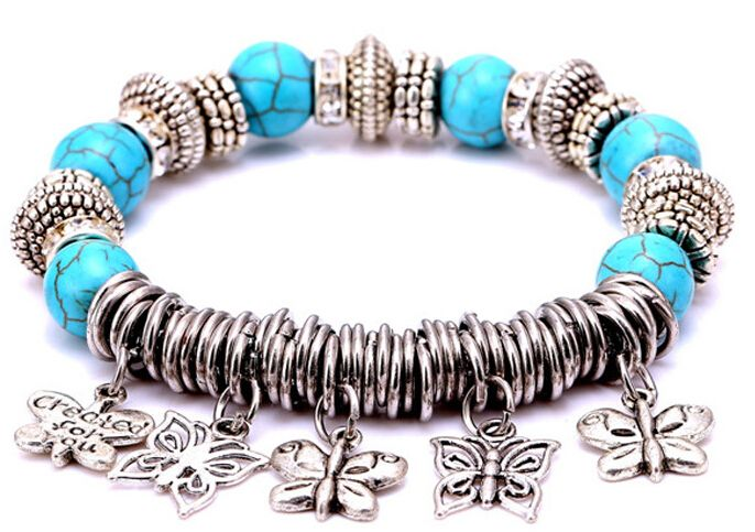 Find More Chain & Link Bracelets Information about 2017 Zenper fashion big hole glass beads Bracelets & Bangles butterfly pendants Bracelet For Women Pulseras new Year's gift L05,High Quality bracelet animal,China bracelet big Suppliers, Cheap bracelet mounting from Yiwu zenper accessories crafts co.,ltd  on Aliexpress.com