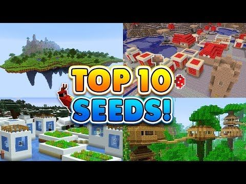 TOP 10 BEST SEEDS for Minecraft Pocket Edition!! (1 2+)