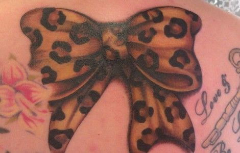 Colored Leopard Print Tattoos