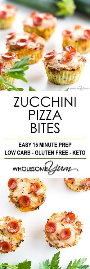 Zucchini Pizza Bites Recipe (Low Carb, Gluten-free) - This low carb baked zucchini pizza bites recipe is so easy to make. They are perfectly portable healthy snacks, appetizers, even breakfast or lunch.