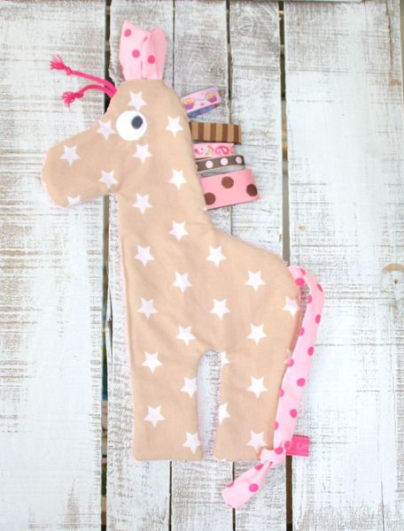 Schmusetücher - Schnuller-/Schmusetuch Melman die Giraffe - ein Designerstück von Liebens_Wert bei DaWanda
