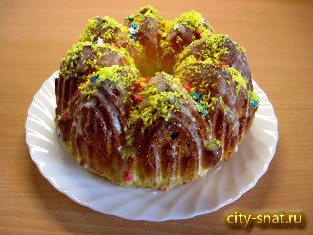 Кулич лимонный к Пасхе. Пасха – один из основных христианских праздников. Главным блюдом и украшением пасхального стола является праздничный хлеб - кулич