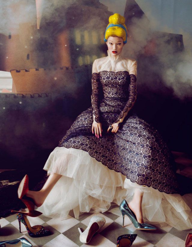 """Dream of the Dress"" Fashion Editorial in for Harper's Bazaar China, December 2013 