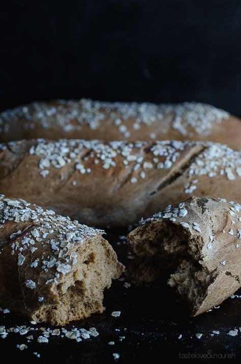 Honey Wheat Brown Bread - If you love The Cheesecake Factory's Brown Bread...you need this easy recipe! This hearty bread is slightly sweet and perfect served with a meal.   @tasteLUVnourish on www.tasteloveandnourish.com #threeloaves