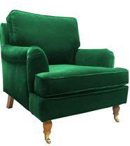 Fotel Hillary Velvet granatowy | DESIGNERSKI