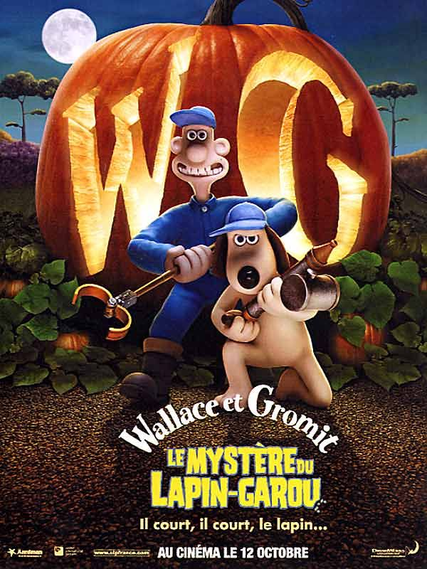26 octobre : Wallace et Gromit : le Mystère du lapin-garou  de Nick Park (2005)