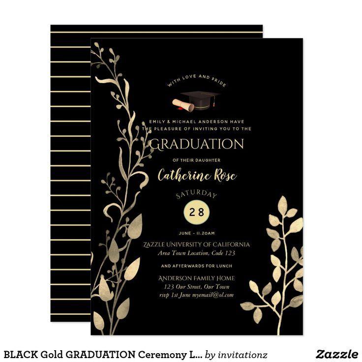 Rustic Leaves Graduation Invites Kraft Olive - #graduation #invites #kraft #leaves #Olive