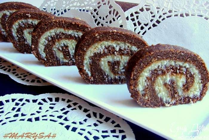 Шоколадно-кокосовые пирожные