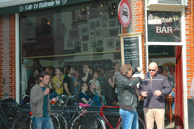 Matchday: people watching Ajax play at De Blaffende Vis.