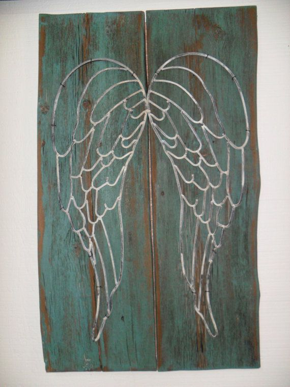 Angel Wing Wall Decor By RustyJunquers On Etsy.,need Decarlo To Paint This  For Me!