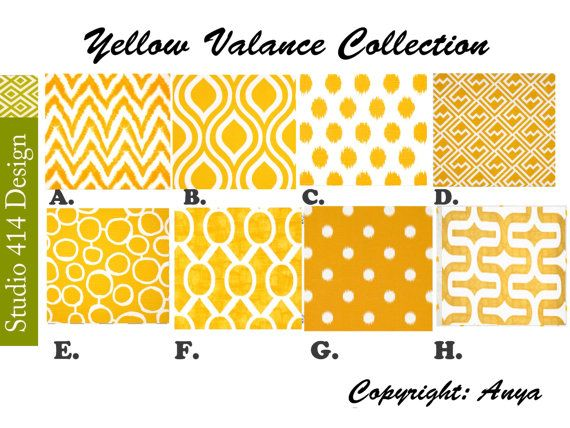 Yellow Valance. Yellow Chevron  Valance.Yellow by Studio414Design, $18.00
