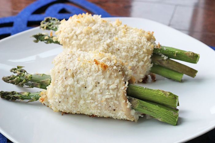 Asparagus and Cheese Stuffed Chicken