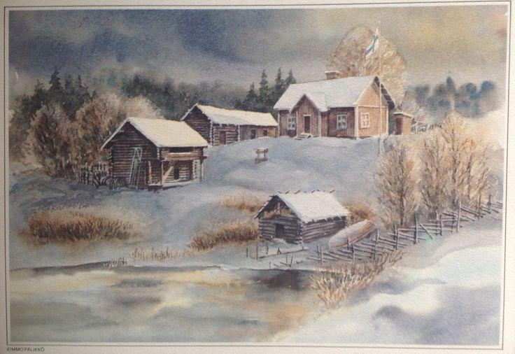 Kimmo Pälikkö Taidepostikortti 1987 Itsenäisyyspäivä