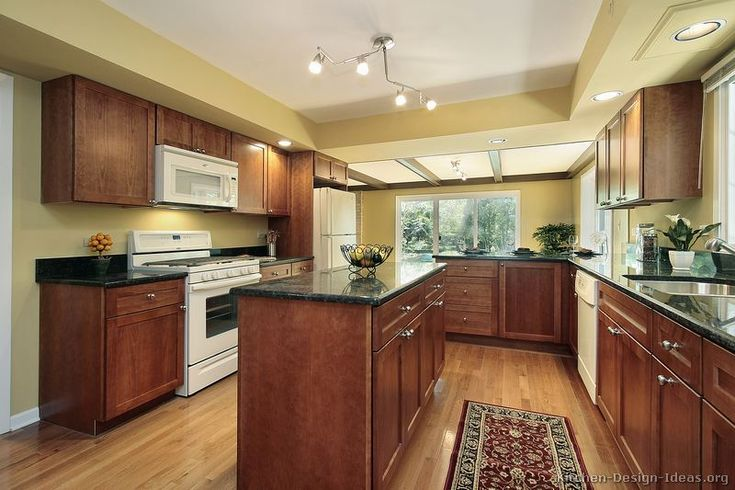 Best Color With Cherry Cabinets Traditional Medium Wood