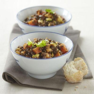 Beluga Lentil Salad from Tibits at Home: Stylish Vegetarian Cuisine, by Reto Frei, Daniel Frei, Christian Frei, Rolf Hiltl