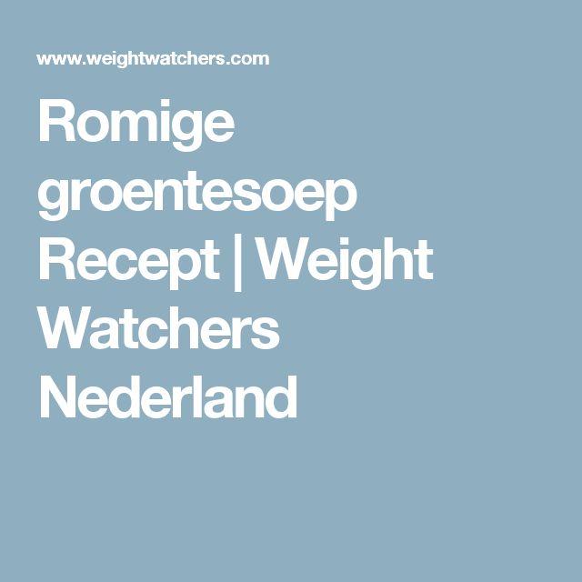 Romige groentesoep Recept | Weight Watchers Nederland